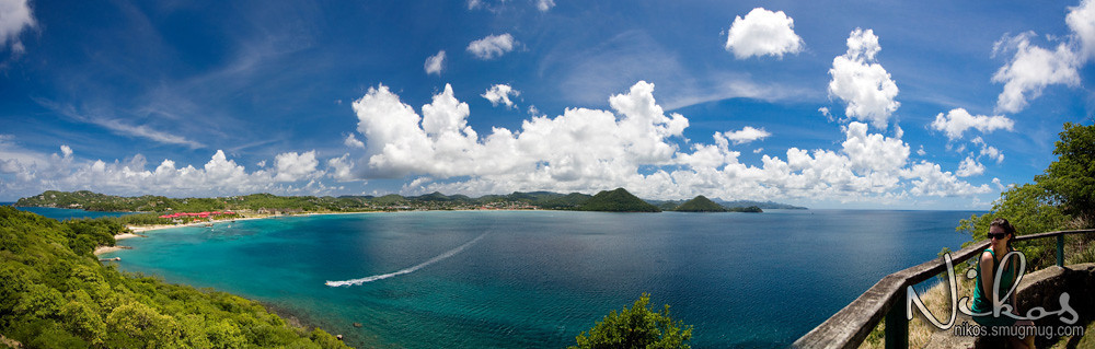Panoramic view of Rodney Bay